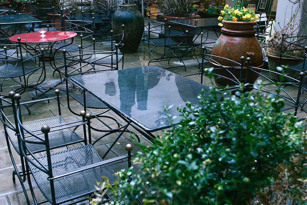 Rain on Restaurant Tables