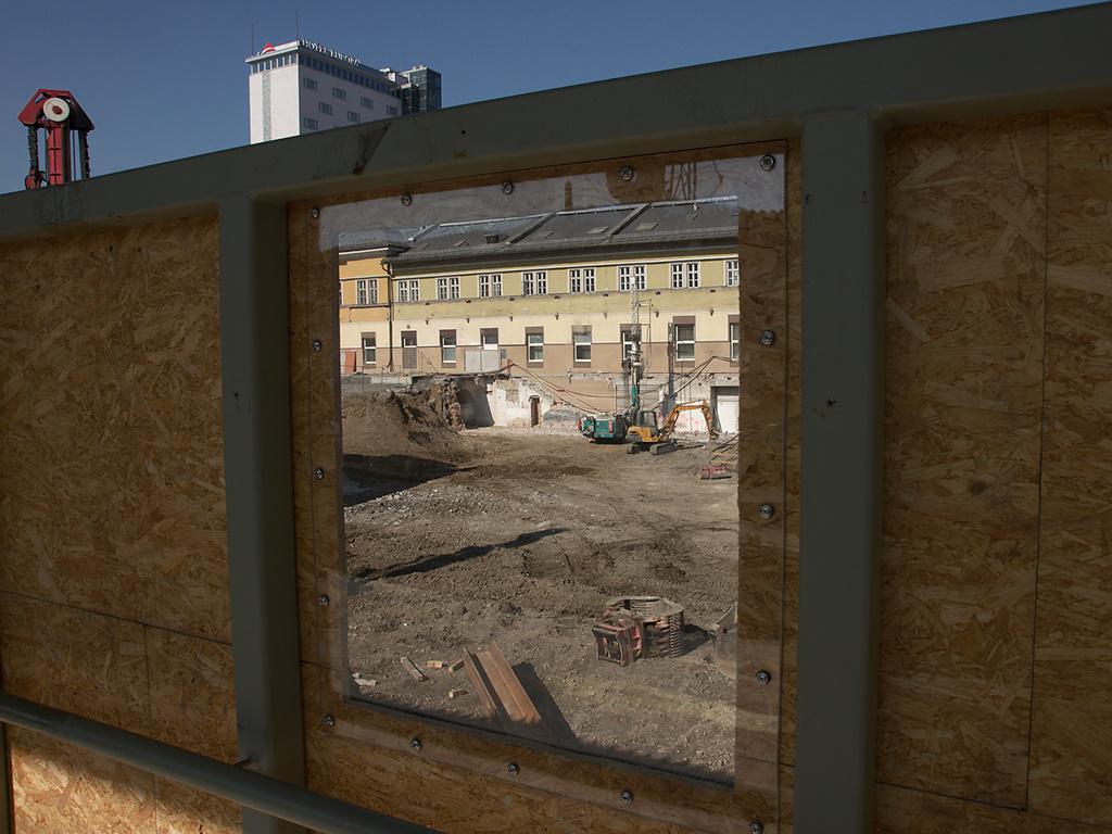 Through the Fence, Salzburg Train Station Construction Site