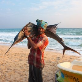Fisherman with Sailfish, Sri Lanka