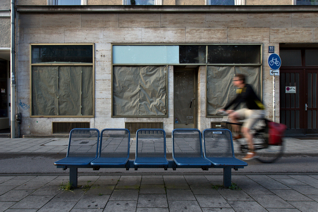 Click to enlarge: Bench and Biker