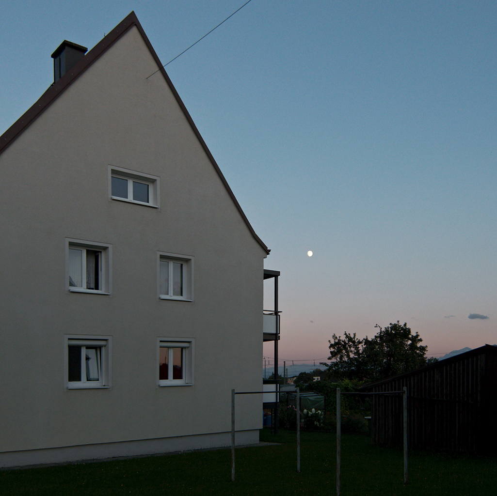 Tenement Block and Moon