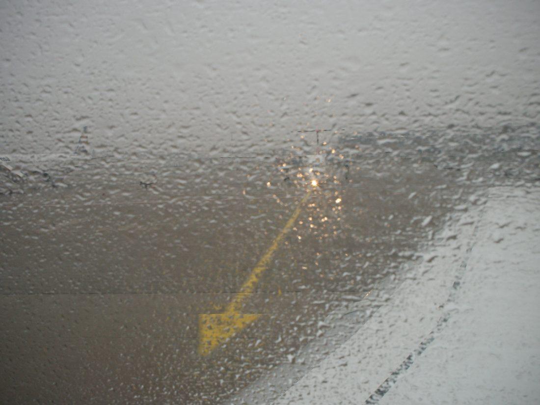 Arrow Shows Direction: Blog, WP, rain