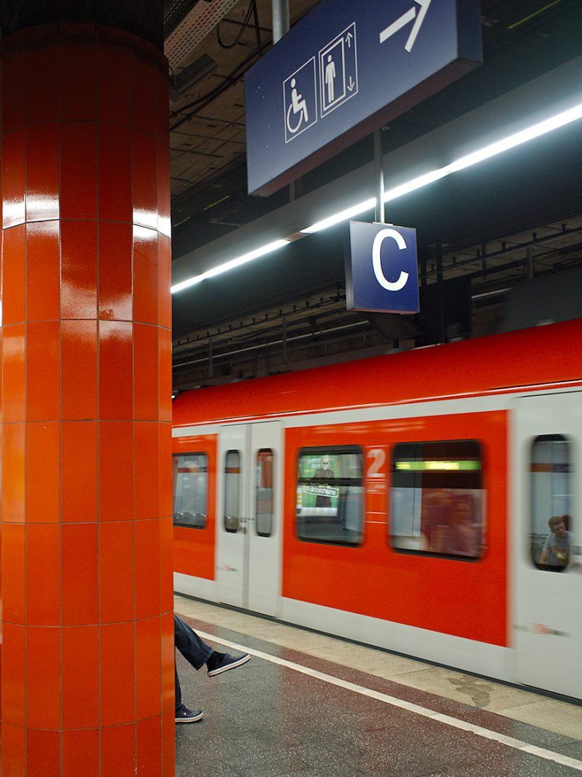 Red Subway Leaving