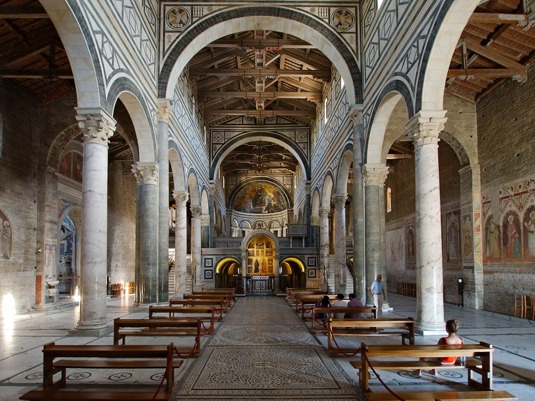 Interior of the basilica S. Miniato al Monte, Firenze