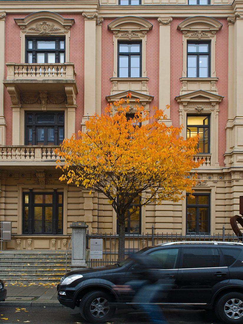 Downtown Fall: Blog, Urban, cyclist, motion blur