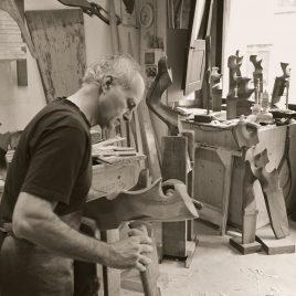Saverio Pastor in his Venice Workshop