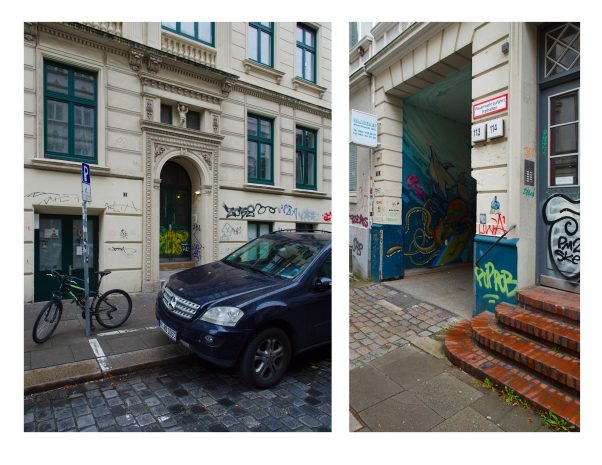 Mercedes SUV and Graffiti: Gentrification and protest in Hamburg
