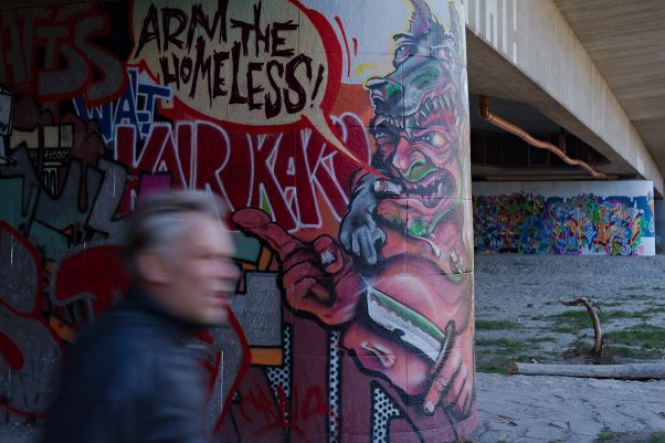 Battle Cry Mural, Brudermühlbrücke, Munich