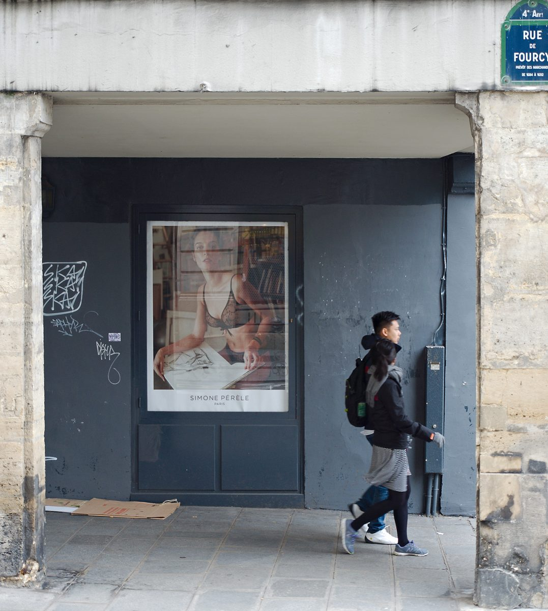 Hidden Dialogue, Rue de Fourcy, Paris, France, Urban, Advertisement, Lingerie
