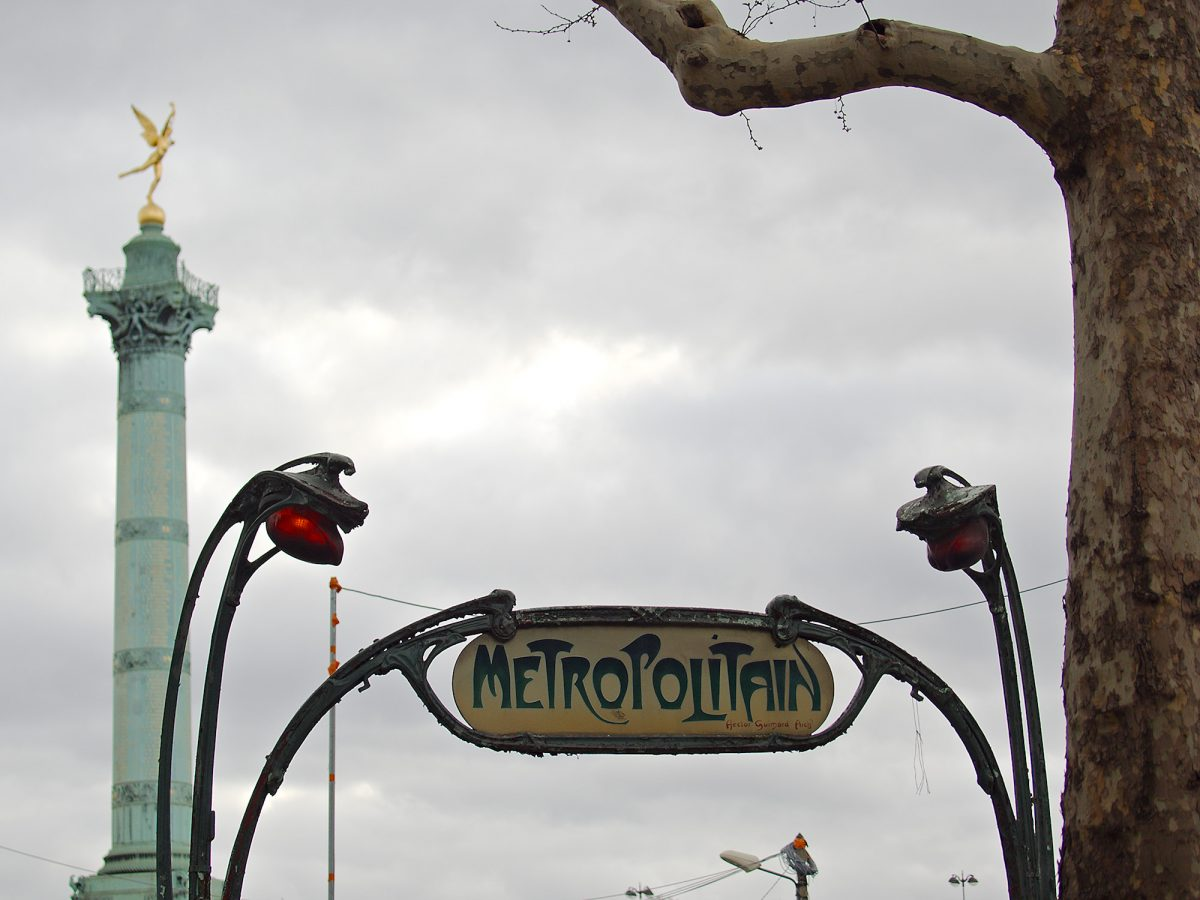 Art Nouveau, Place de la Bastille, Paris, Urban
