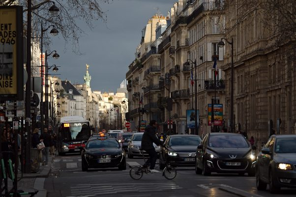 Clearing Storm, Rue de Rivoli, Paris, Common Places, Traffic, Urban
