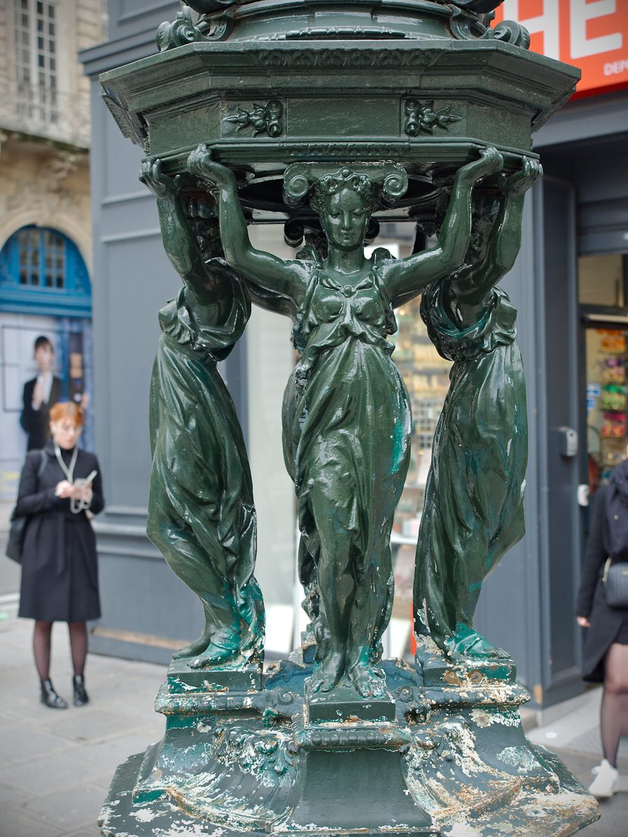 Equanimité, Fontaine de Wallace, Paris, France, Urban