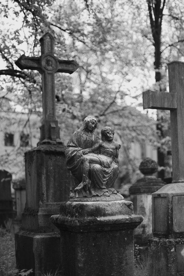 Pieta, Südfriedhof, Munich, Bavaria, Graveyard