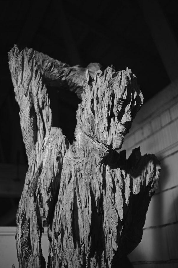 Craggy Sculpture by Andreas Kuhnlein, Unterwössen, geotagged, Black & White, Sculpture