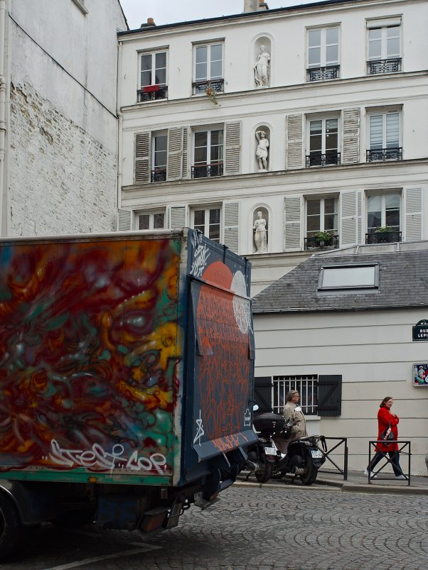 Decorated Lorry, Rue Lepic, Paris, Common Places, Graffiti, Red, Urban