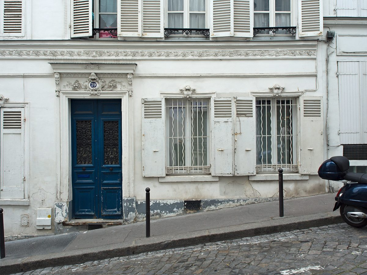 Le Bleu, Montmartre, Rue Tholozé, Paris, Blue, Common Places, Urban