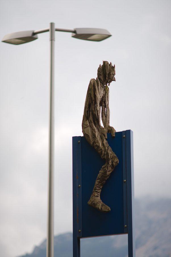 (Not) The Blue Rider, Nikolaiweg, Bad Reichenhall, geotagged, Andreas Kuhnlein, Pentax-K 4.0/200mm, Sculpture, Urban