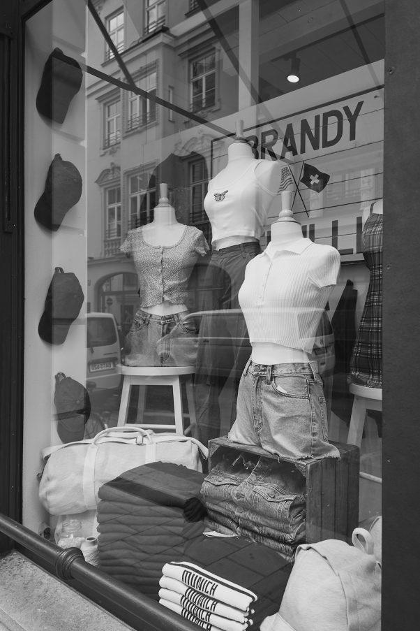 Randy Munich, Hackenstr., Munich, Black & White, Reflection, Shop Windows, Urban