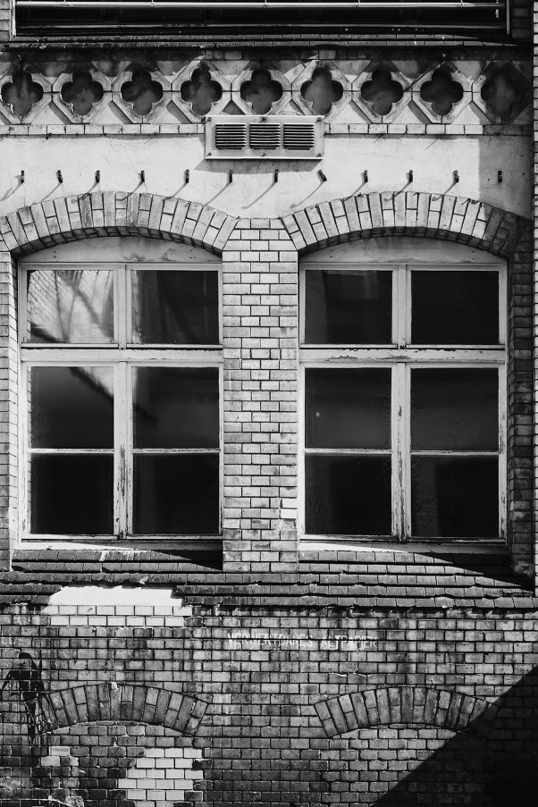 Eyes of the House, Wilhelminenhofstraße, Berlin, geotagged, Black & White, Common Places, Doors and Windows, Urban