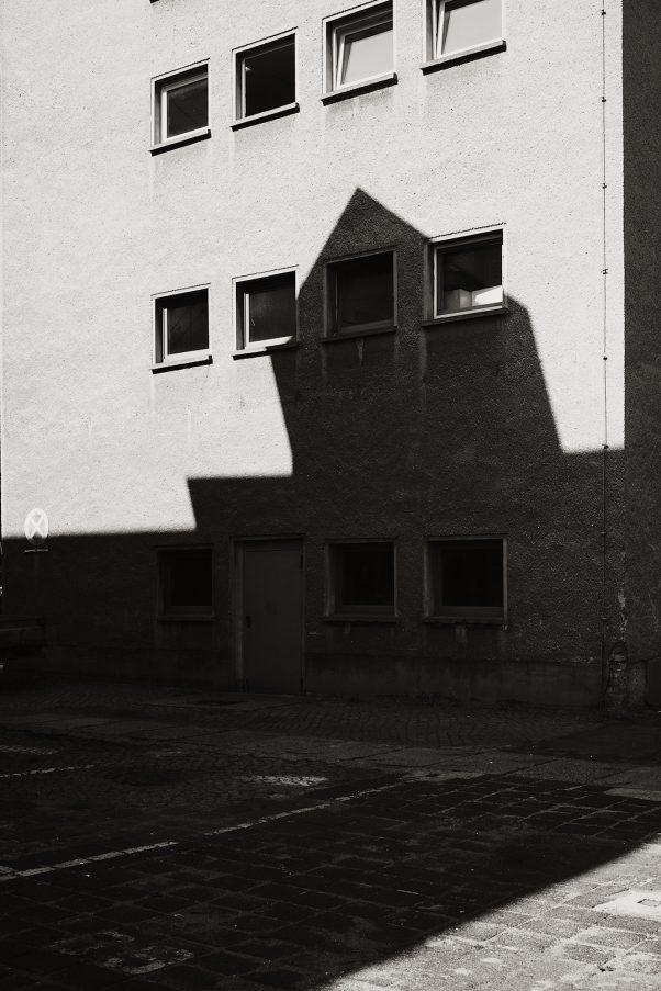 Beauty in the Pattern of the Shadows, Wilhelminenhofstraße, Berlin, geotagged, Black & White, Shadows, Urban