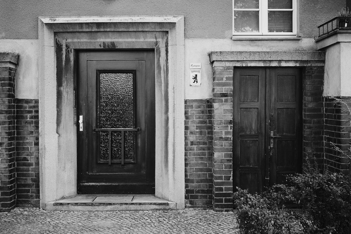 Doors and Bear, Goethestraße, Berlin, Black & White, Common Places, Doors and Windows, Urban