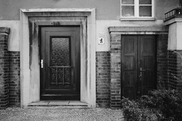 Doors and Bear, Goethestraße, Berlin, Black & White, Common Places, Doors and Windows, Urban