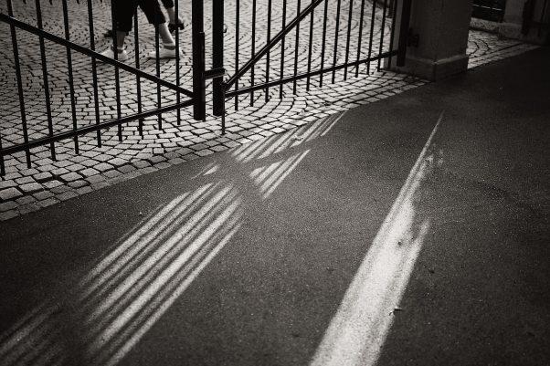 Light Strip, Spa Gardens, Bad Reichnhall, Black & White, Urban