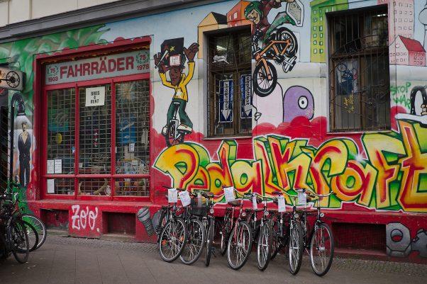Pedal Power, Skalitzer Straße 70, Berlin, geotagged, Common Places, Graffiti, Urban