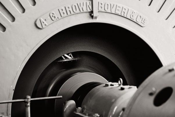 BROWN BOVERIE & Cie, Saalachkraftwerk, Thumseestraße, Bad Reichenhall, geotagged, Black & White, Pentax-M 2.0 85mm, Treatment