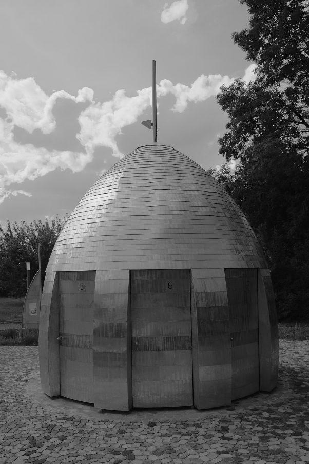 Brandenburg Spaceship, Probably Lübben, Black & White, Common Places