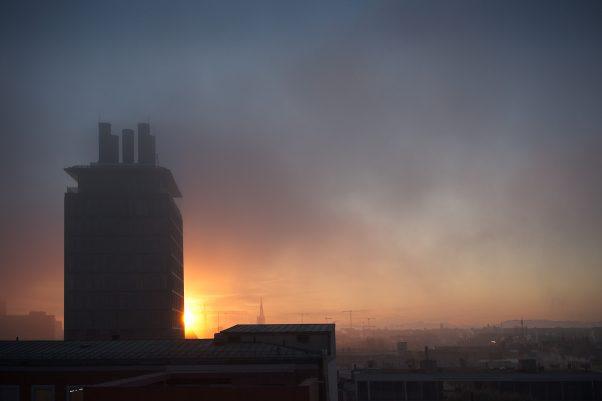 Anticipated Nostalgia XVI - Winter Sunrise, Blumenstr., Munich, Architecture, The Seven, Urban