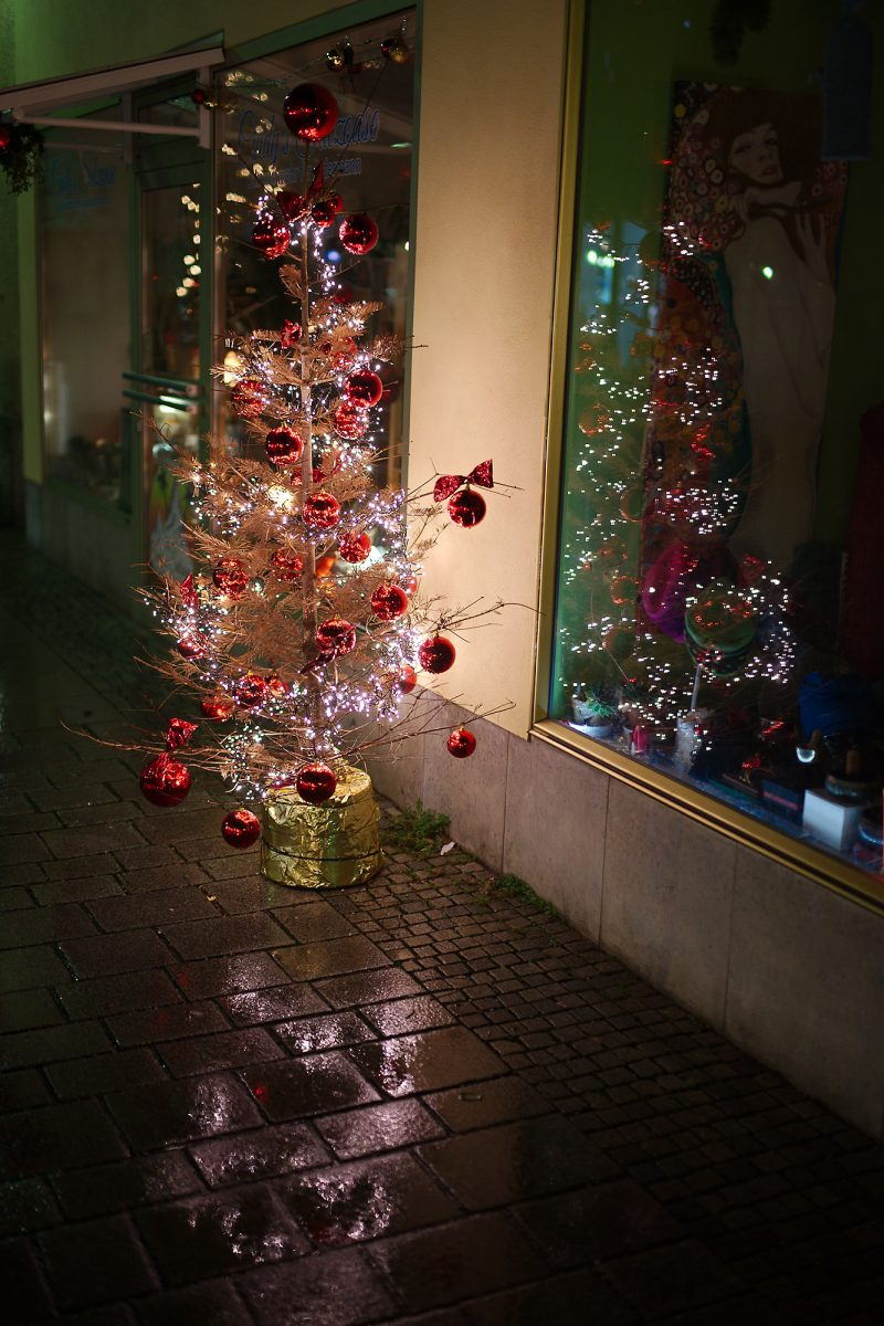 Appropriate Christmas Tree, Poststraße, Bad Reichenhall, Christmas, Climate Change, Politics, Urban