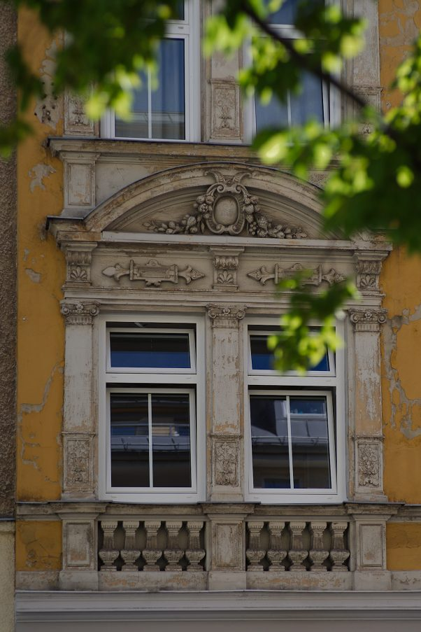 Facade with a Story, Probably Klenzestraße, Munich, Urban