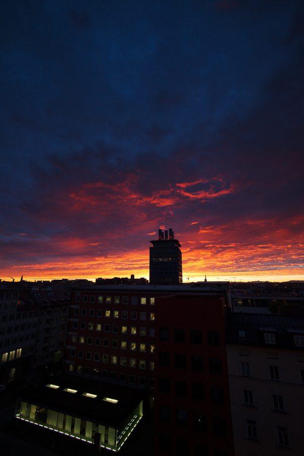 Anticipated Nostalgia XX - Sky over Munich, Blumenstr., Munich, The Seven, Urban