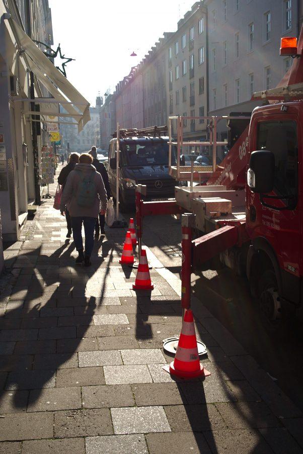 City Backlight, Reichenbachstr., Munich, Urban