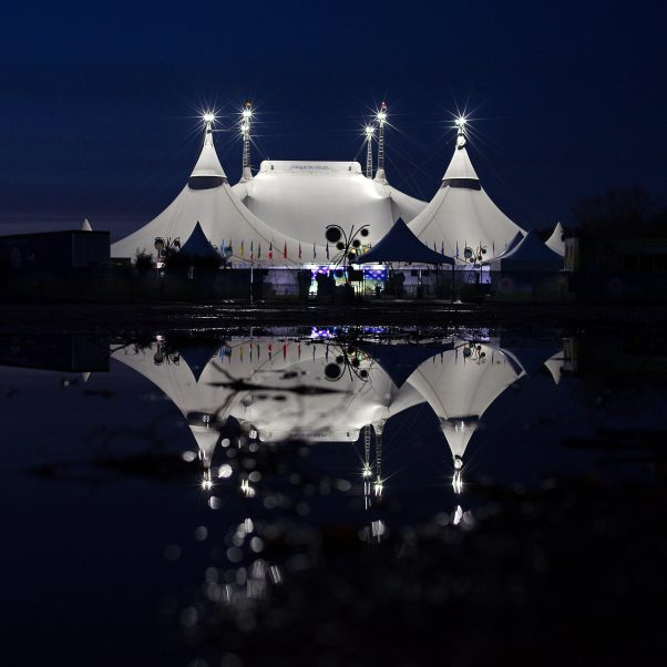Fata Morgana, Theresienhöhe, Munich, Night, Reflections, Circque du Soleil