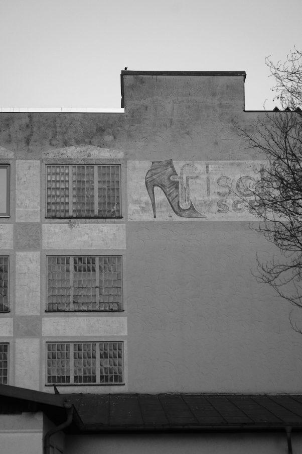 Shoes from better Times, Angerl-Parkplatz, Bad Reichenhall, Advertisements, Black & White, Urban