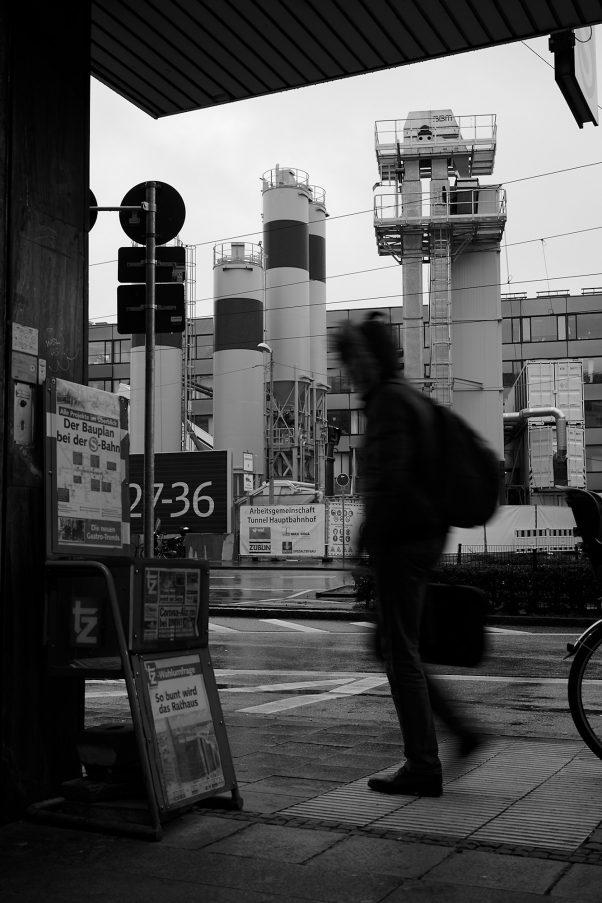 Surfacing from the Subway, Arnulfstr., Munich, Black & White, Urban