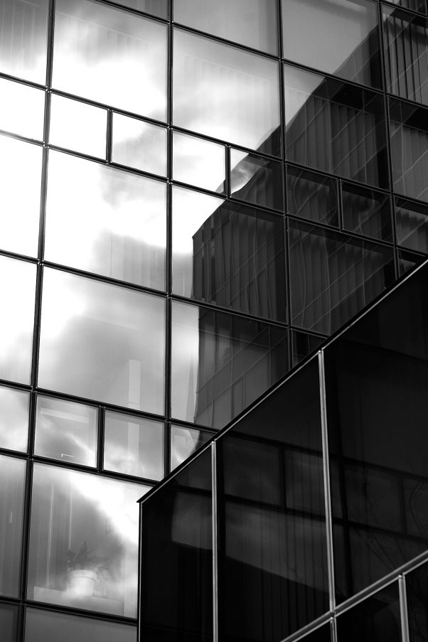 The Glass and the Sun, Stiglmaierplatz, Munich, Architecture, Black & White, Reflection, Urban